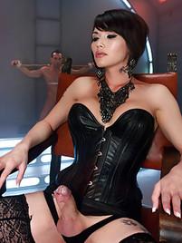 shemale en lingerie